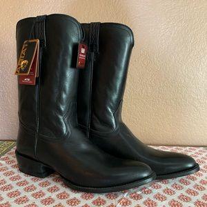 ARIAT Men's Houston Black Roper Riding Heel Boots